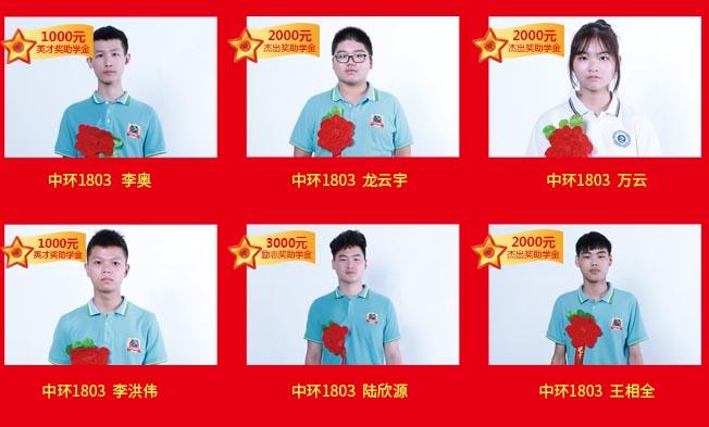 奖助学金光荣榜