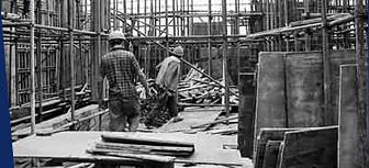 在建筑工地做临时工